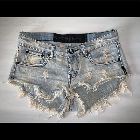 One Teaspoon destroyed denim festival shorts (26)